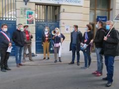 Rassemblement devant hôpital Saint Antoine 10 oct 2020  img_1518.jpeg