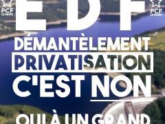Affiche Non au démantèlement d'EDF
