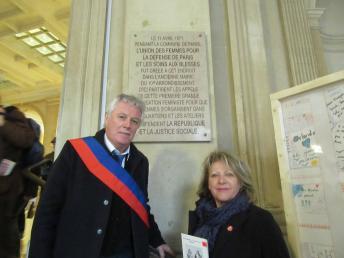 La commune, plaque commémorative 18 mars 2017