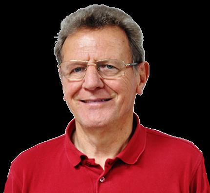 Photo de face de Jean-Pierre Leroux, sur fond transparent