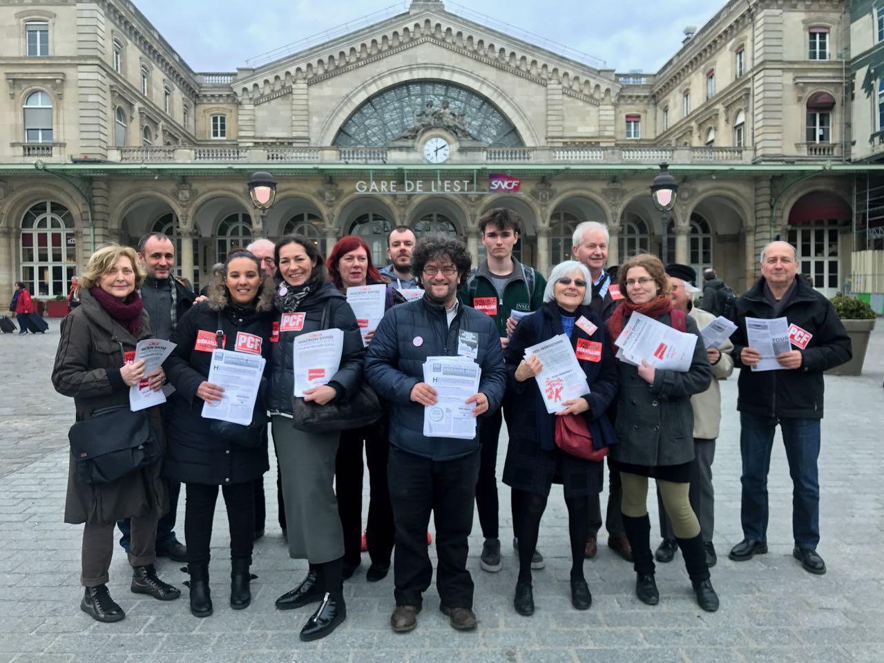 Distribution de tracts à la gare de l'Est avril 2018 . img_1232_1.jpg